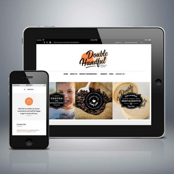 Website Design Bunbury for Double Handful Premium Gelato.