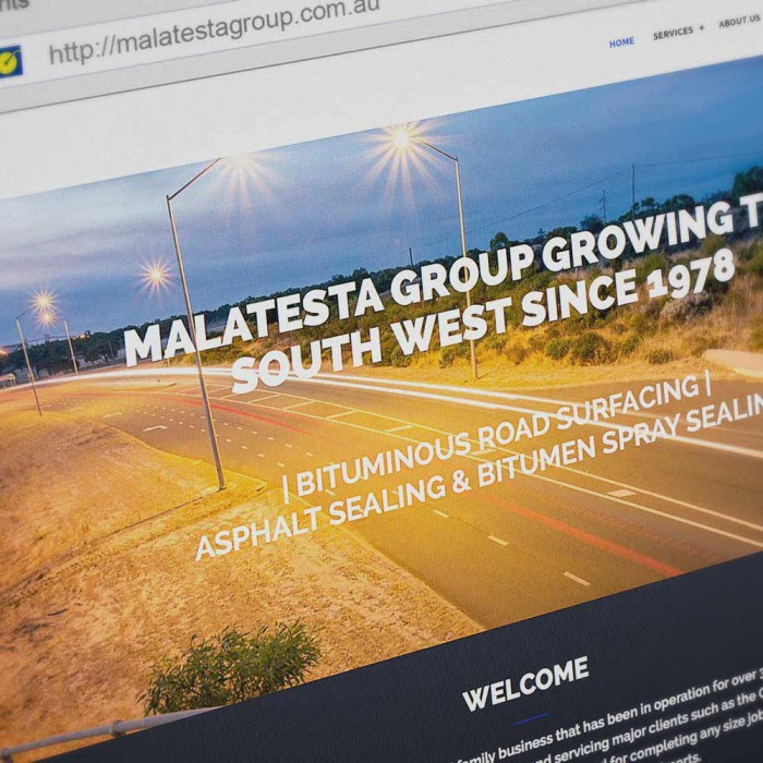 Malatesta Group Client - Website Design Busselton